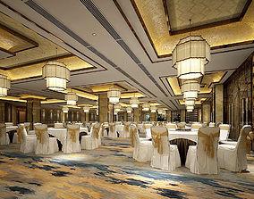 Business Restaurant - Coffee - Banquet 13 3D model