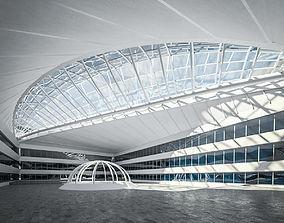 3D asset Public Hall Interior 04