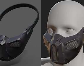 Gas mask helmet protection pollution scifi 3D model