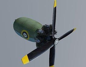 3D model Aircraft engine Bristol Pegasus