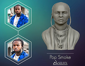 3d POP SMOKE 3D model portrait sculpture