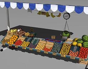 3D model Fruit stand tangerine