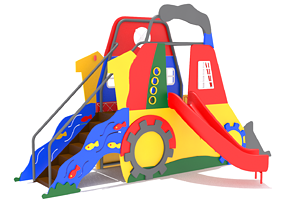 3D model Playground- Tractor Playhouse