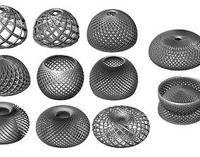 3D printable model abstract spherical patterns decoration