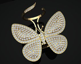 3D print model Butterfly Ring With Moving Wings