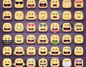 Emoticons Mega Pack 3D asset