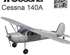 Cessna 140A 3D asset