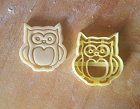 3D print model Owl cookie cutter