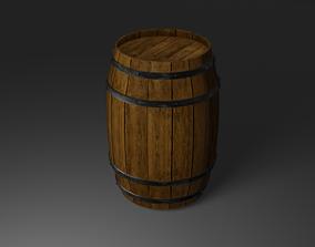 3D Wood Barrel - Drum