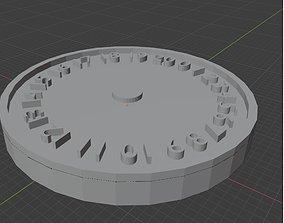 Globe Consumers 0-20 Wound Tracker 3D print model