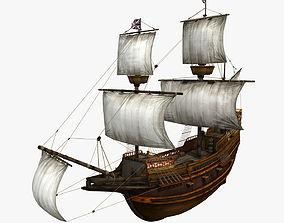 3D model Mayflower