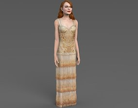 Emma Stone ready for full color 3D printing figurines