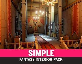 Simple Fantasy Interiors - Cartoon 3D model