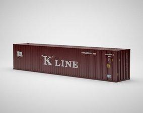 3D Cargo Container - KLINE - Contenedor de carga
