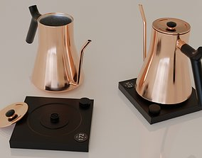 Contemporary colourful kettle2-copper 3D model