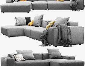 3D model Rolf Benz Freistil 175 modular sofa set 2