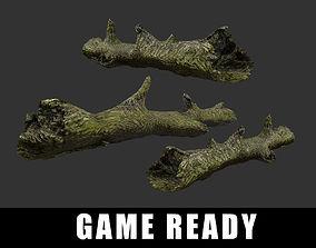 3D asset realtime Tree Log Forrest