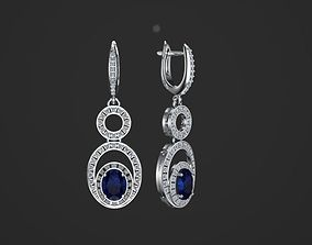 3D printable model earrings gem