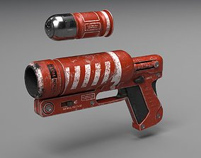 3D model Signal Flare Gun Concept - UE4 ready - Low poly 2