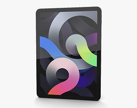 Apple iPad Air 2020 Cellular Space Gray 3D