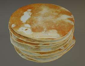 3D asset low-poly Pancake