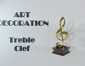 3D model Art Decoration - Treble Clef - Musical Prize