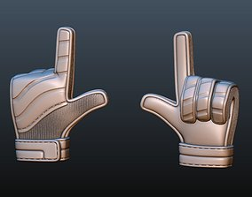 Goalkeeper Glove jewelry 3D printable model
