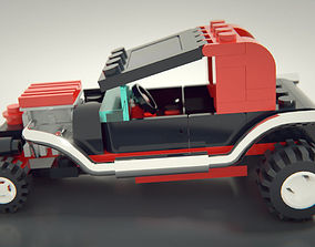 Lego Hot Rod 3D model