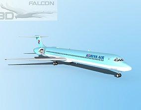 rigged Falcon3D MD-80 Korean Air