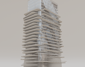 office buildings of the future 3D asset