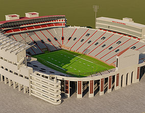 3D asset Vaught Hemingway Stadium