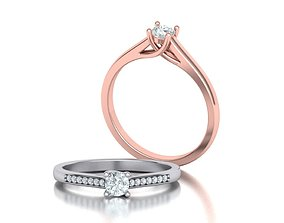 Solitaire Engagement ring Own design 3D print