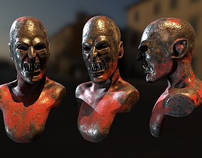 Rusty Vampire Statue art 3D