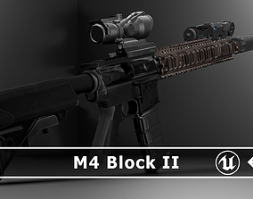 3D asset M4 Block II rifle with attachements - ready to