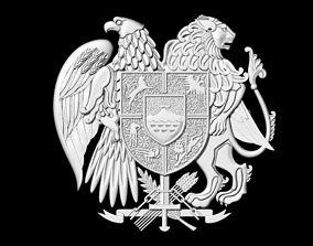 coat of arms of Armenia 3D print model