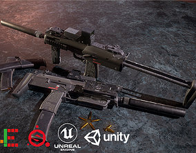 Game Ready MP7 Attached D180614 3D asset