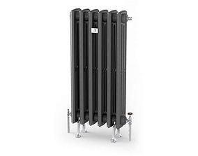 3D Grey radiator heating 39 am91