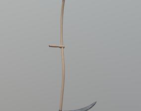 Scythe 3D model low-poly