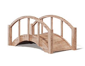 wood Small Wooden Bridge 3D Model