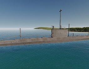 3D model AE2 Australia Submarine