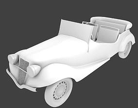 realtime Old Antique Car 3D Model