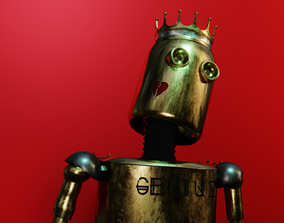 3D model Old Stylish Robot