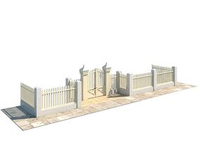 White Picket Fence 3D