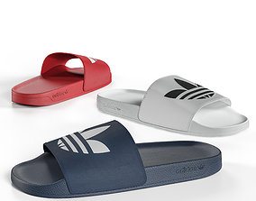 Slippers Adidas 3D model