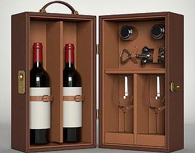 Classic Leather Wine Box 3D