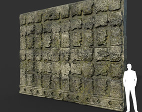 3D model Low poly Mayan Inca Ruin Temple Modular 10-5k