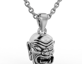 3D print model demon pendant