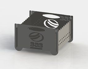 Grill with Zaz logo 300x300 for laser cut 3D print model