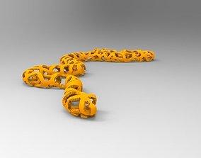 voronoi 3D print model Voronoi Snake