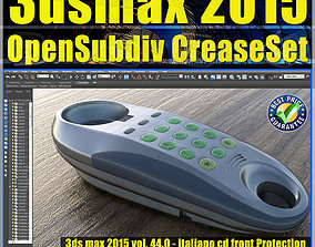 044 3ds max 2015 Modeling OpenSubdiv CreaseSet vol44 CD 1